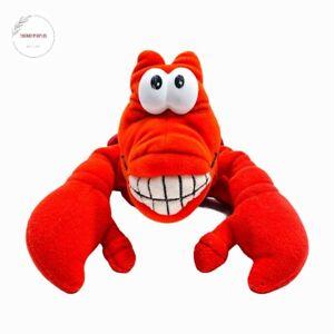 "Disney The Little Mermaid SEBASTIAN 10"" Red Crab Plush Hand Puppet Stuffed Toy"