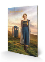 13th Doctor Doctor Who Wood Print SW12306P 40 x 60cm Wall Hanging