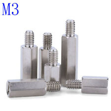 M3 Male-Female 303 Stainless Steel Hex Column Standoff Support Spacer Screws Nut