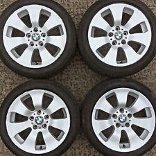 """Set 4 Genuine BMW 17"""" 3 series Alloy Wheels E90 E91 E92 7 spoke Tyres 225 45 158"""