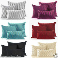 SAVOY Modern Velvet Damask Cushion Cover / Case Luxury Soft Scatter Small Large