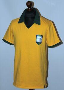 RETRO Brazil National Team home football shirt 1958 Pele style Copa Size XL