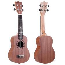 """ammoon 21"""" Acoustic Ukulele Sapele 15 Fret 4 Strings Musical Instrument US Y2F8"""
