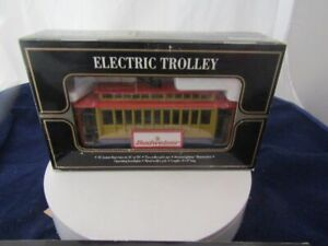 K-LINE O'SCALE NEW BUDWEISER ELECTRIC TROLLEY ILLUMINATED NEW IN BOX !!