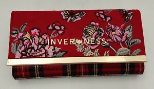 Ladies Inverness 3 colours Tartan Check Meghan Embroidered Purse Purse / Clutch