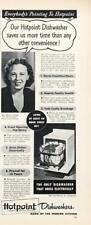 1948 Hotpoint Dishwashers Print Ad Saves More Time Than Any Other Convenience