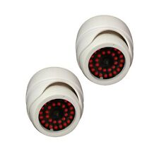 2 PACK Indoor Dummy Fake white Dome Security Camera Cameras,30 Illuminating LEDs
