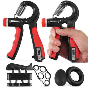 6 Pcs Hand Grip Strengthener Exerciser set For Injury Recovery & Muscle Builder
