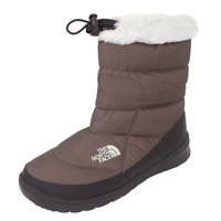 The North Face Womens Bootie Nuptse Fur DMTB Color Brown Winter Size 11 AYCPRE