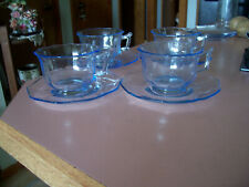 Cambridge Decagon willow blue cups and saucers (4 sets)
