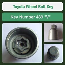 """Genuine Toyota Locking Wheel Bolt / Nut Key 489 """"V"""""""