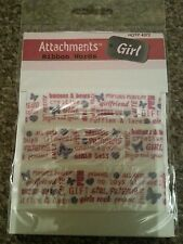 """HOTP ATTACHMENTS RIBBON WORDS """" GIRL"""""""