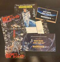 James Bond 007 Moonraker Program Bundle 6x Items.