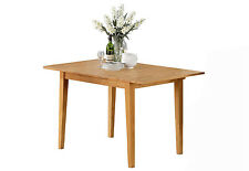 Norfolk dinette kitchen table without chair in light oak finish real solid wood
