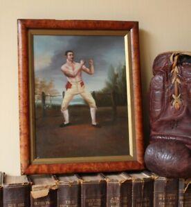 Antique Pugilist Oil Painting. Thomas Belcher. Bare Knuckle Fighter Boxer Champ