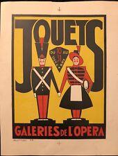 """SIMONIN """"JOUETS """" GALERIES DE L'OPERA  LITHOGRAPHIE ORIGINALE"""