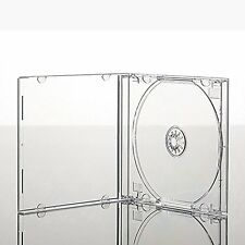 50 x Single CD Jewel Case Cases 10.4mm Spine Clear Tray HIGH QUALITY PLASTIC