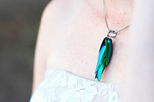 Real Handmade Beetle Wing Necklace - Insect, Bugs, Alternative