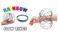 3D Magic Flow Rings Kinetic Arm Slinky Magic Infinity Spring Fidget Toy Gift