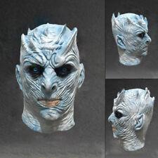 Game of Thrones Latex Nachtkönig Maske, Night King Cosplay Kostüm Halloween DE