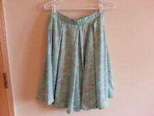 "Lularoe aqua and purple dog skirt - womens small - length = 22.5"""