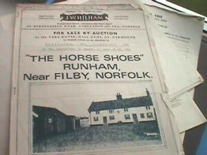 The Horse Shoes Pub, Runham, Norfolk - Collection of Documents, 1902-1970