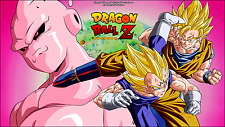 Poster 42x24 cm Dragon Ball Z Bubu Goku Vegeta Super Saiyan Buu 02