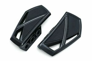 Kuryakyn Gloss Black Phantom Mini Boards Floorboards Harley Touring Softail Dyna