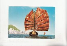 BF28095 hong kong china chinese junk with the background ship  front/back image