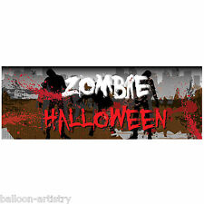 56cm Halloween Zombie Attack Terror Party PVC Plastic Sign Banner Decoration