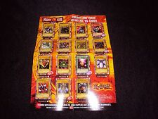 Yugioh McDonalds Mighty Kids Meal MP1 Checklist   NM