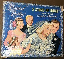 "Whitman Boxed Set ""Bridal Party"" Made Of Tekwood 5 Paper Doll Set #5349:49"