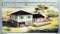 Plasticville Split Level Home 1908-198 Vintage O Scale 1950s Complete