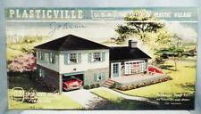 Plasticville Split Level Home 1908-198 Vintage O Scale 1950s Complete