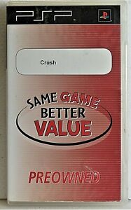 CRUSH Sony PSP Playstation Portable No booklet
