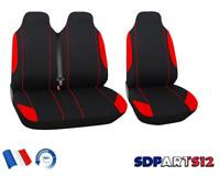 Fiat Scudo Ducato Housses Couvre Sieges Fabric 2+1 Rouge Noir