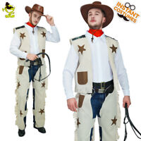 Men's Popular Cowboy Wild Western Costume Party Role Cosplay Outfit Fancy Dress