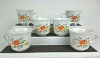 Set Of 6 -Vintage Corning Ware Corelle Wildflower Pattern - Coffee/Tea Cups Mugs
