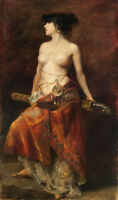 """oil painting 100% handpainted on canvas """" A woman with a knife"""""""