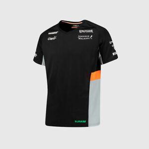 Sahara FORCE INDIA F1 Team T Shirt Tee Top Black Grey MENS – OFFICIAL