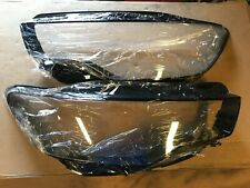 Audi A6 C7 4G Pair Left Right Front Headlight Lamp Cover Lens Glass