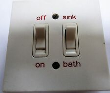 MK VINTAGE BIANCO 0FF/ON e lavello/bagno quadrato angolo Old Style Interruttore 5208Whi 20 A