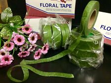 "1 ROLL""GREEN FLORIST TAPE"" STICKY STRETCHY CORSAGE-BOUQUETS-STEMS FLOWERS CRAFTS"