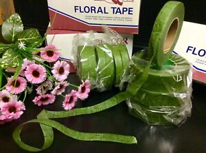 """""""GREEN FLORIST TAPE"""" STICKY STRETCHY CORSAGE-BOUQUETS-STEMS FLOWERS CRAFTS"""
