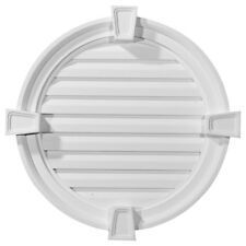 """22""""W x 22""""H x 2 1/8""""P,  Round Gable Vent with Keystones, Functional"""