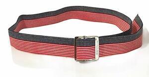 Skil-care Gait Belt Red White & Blue Stars & Stripes Adjustable USA 2x56 EUC
