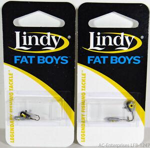 Lindy Fat Boys Ice Jig LFB-1247 Coach Dog 2 Packs