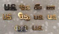 """Vintage Lot Of 10 """"U.S."""" Pinbacks"""