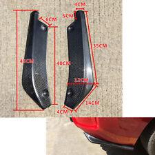 2Pcs Carbon Fiber Style Car Rear Lip Bumper Canard Diffuser Wrap Angle Protector