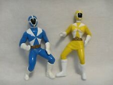 2000 McDonald's Power Rangers Lightspeed Rescue Loose Figure Lot (2) Blue Yellow